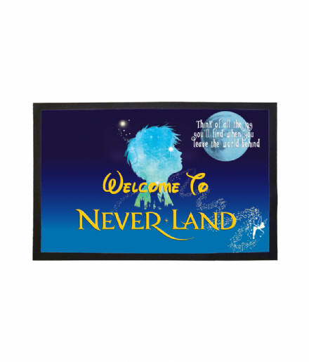 Welcome To NeverLand Doormat - Inspired By Peter Pan & Disney